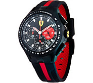 Ferrari mens Black Silicone Strap Race Day Watch - J334332