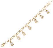 Vicenza Gold 6-3/4 8.0mm Cultured Pearl Charm Bracelet 14K Gold - J334732