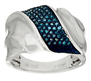 Pave Colored Diamond Band Ring, Sterling 1/4 cttw by Affinity - J345932