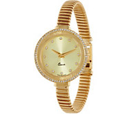 Vicence Large 4/10 ct tw Diamond Round Case Watch, 14K - J346232