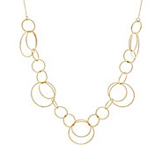 14K Gold 18 Textured Circle Necklace, 3.3g - J347332