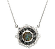 Shana Gulati Sterling or 18K Clad Gemstone & Diamond Slice Dale Necklace - J347632