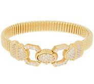 Judith Ripka Verona 14K Clad Tubogas Bracelet 20.8g - J351532