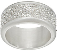 As Is UltraFine Silver Margherita Chain Band Ring - J352432