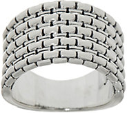 JAI Sterling Silver Box Chain Ring - J353032