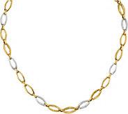 Italian Gold Two-tone Oval Fancy Link 18  Necklace 14K, 11.3g - J377632