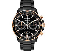 Bulova Mens Marine Star Black Chronograph Watch - J378532