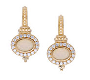 Judith Ripka 14K Gold Opal and Diamond Earrings - J379732