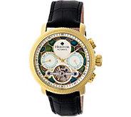 Heritor Automatic Aura Watch - Goldtone/Silver - J380332