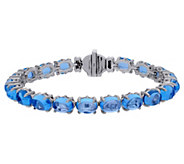 Judith Ripka Sterling Blue Topaz Tennis Bracelet - J380532
