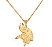Sterling & 14K NFL Large Pendant with 18 Chain - J380732