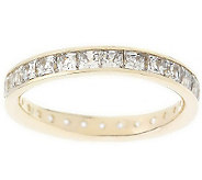 Diamonique 1.75 cttw Silk Fit Princess Cut EternityBand,14 - J82532
