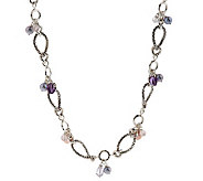 Michael Dawkins Sterling Multi-Gemstone & Cultured Pear 18 Necklace - J155533