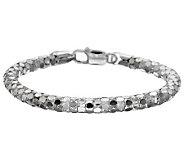 Vicenza Silver Sterling 7-1/4 Bold Coreana Bracelet - J273433