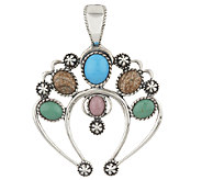 American West Multi-Gemstone Sterling Naja Enhancer - J294833