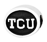 Sterling Silver Texas Christian University Bead - J300733