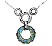 Or Paz Sterling Roman Glass Toggle Necklace - J302133