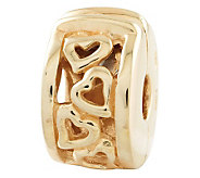 Prerogatives Gold-Plated Sterling Hinged HeartsMotif Clip Bead - J302633