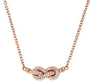 Judith Ripka Sterling & 14k Clad 3/4 cttw Diamonique 18 Adj. Necklace - J319933