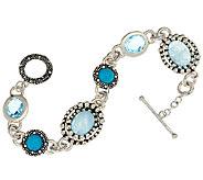 Michael Dawkins Sterling & 13.00 cttw Multi-Gemstone Bracelet - J323133