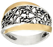 Sterling Silver & 14K Gold Lace Ring by Or Paz - J324133