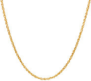 EternaGold 16 Diamond Cut Perfectina Necklace 14K Gold, 1.7g - J324733