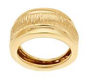 As Is EternaGold Bold Diamond Cut Ring 14K Gold - J326733