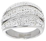 As Is Polished Crystal Wave Design Ring - J327333