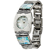 Sterling Silver Roman Glass Watch by Or Paz - J329333
