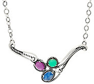 Carolyn Pollack Bay Breeze Sterling Silver Statement Necklace - J329933