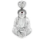 Luv Tia Sterling Silver Buddha Enhancer - J330233