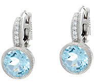 Judith Ripka Sterling Gemstone Lever Back Earrings - J330933