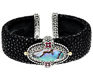 Barbara Bixby Sterling & 18K Abalone Doublet Cuff Bracelet - J331633