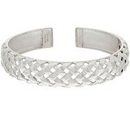 As Is Michael Dawkins Sterl. Basket Weave Texture Hinged Cuff Bracelet - J332633