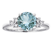 Premier 1.90cttw Aquamarine & 1/5cttw Diamond Ring, 14K - J336233