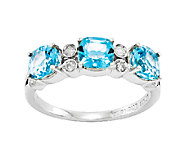 Sterling Choice of Cushion-Cut 3-Stone Gem Ring - J336633