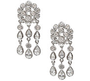 Judith Ripka Sterling 6.20cttw Diamonique Chandelier Earrings - J338033