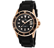 Lucien Piccard Womens Vaux Black Silicone Watch - J339133
