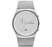 Skagen Mens Stainless Steel Chronograph Dial Watch - J339733