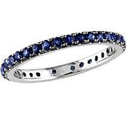 0.70cttw Sapphire Eternity Band Ring, 14K WhiteGold - J340833