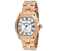 Peugeot Womens Rosetone Roman Numeral Bracelet Watch - J341933