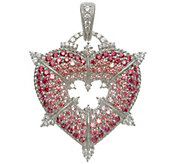 Judith Ripka Sterling & Diamonique Heart Enhancer - J343133