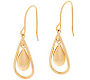 Polished Nested Teardrop Dangle Earrings 14K Gold - J348633