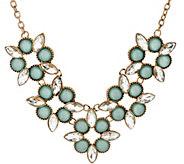 As Is Susan Graver Geometric Floral Necklace - J350133