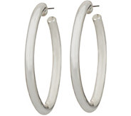 Simon Sebbag Sterling Silver Electroform Smooth Oval Hoop Earrings - J351033