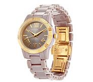As Is Isaac Mizrahi Live! Coin Edge Ceramic Watch - J351133