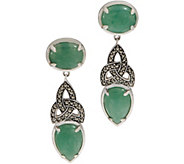 Solvar Sterling Silver Green Aventurine Earrings - J352733