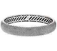 JAI Sterling Silver Mesh Hinged Bangle, 34.6g - J353033