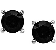 Sterling 4.00 cttw Black Sapphire Post Earrings - J374833