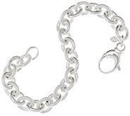 UltraFine Silver Textured & Polished Rolo Link Bracelet - J58733
